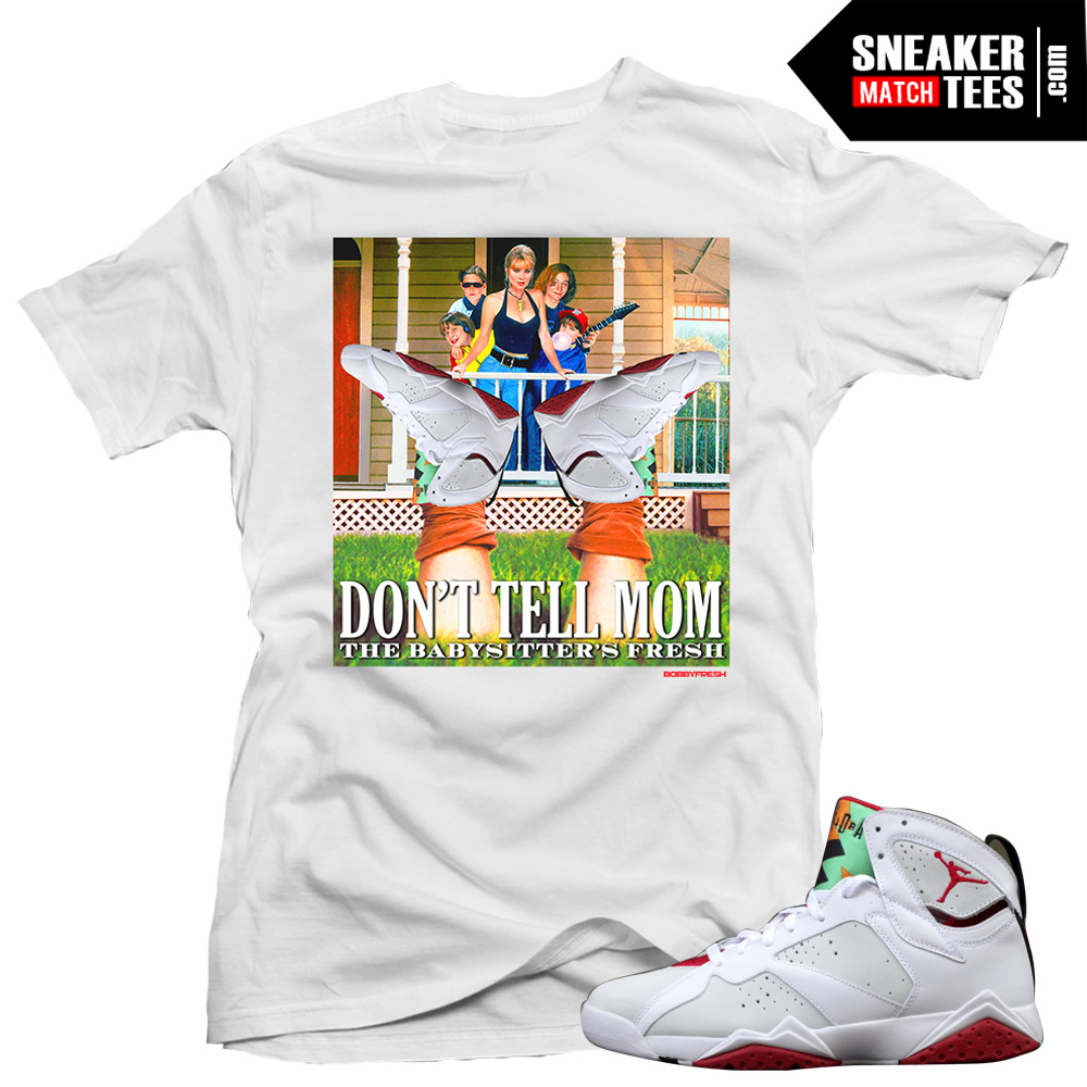 563d03a1a8adba Jordan 7 Hare shirts to match