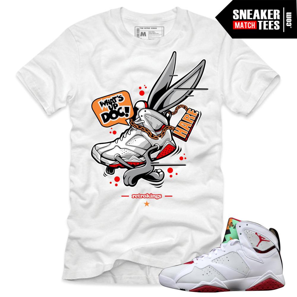 7c5844c9197aeb Jordan 7 Hare shirts to match Jordan 7 shirts