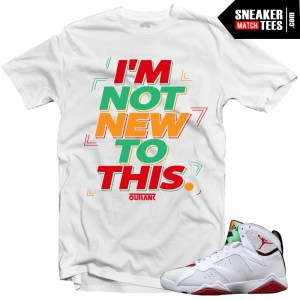 Jordan 7 shirts to match Hare 7 sneaker tees