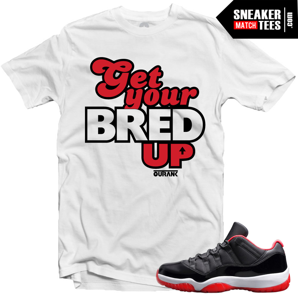 9d1a1be36a47 Jordan 11 Bred Low shirt to match