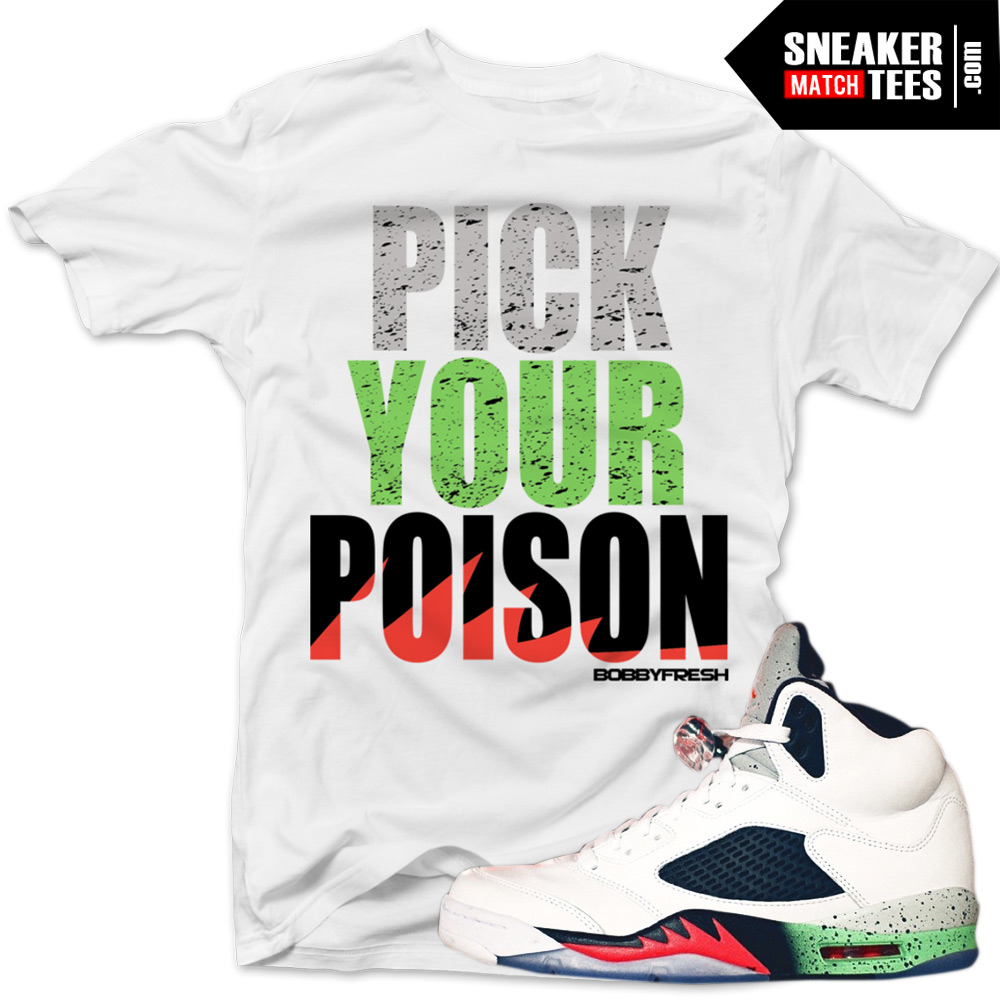18cd6298ff97 Poison Green 5s shirts to match Jordan 5 Poison Green