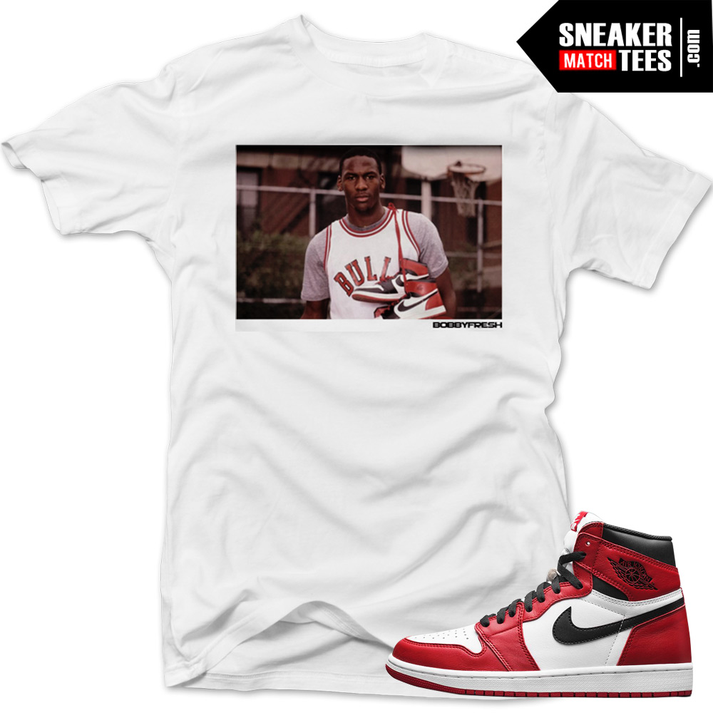 shirt to match jordan 1 chicago sneakers