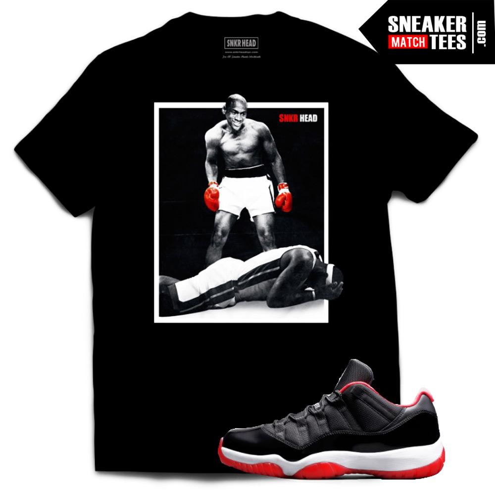 reputable site 54fe6 ac9e5 Jordan 11 Bred Low shirt to match