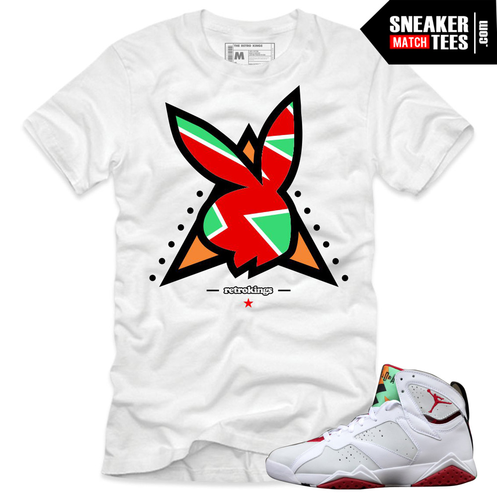 88e456f3009364 Jordan 7 Hare shirts to match