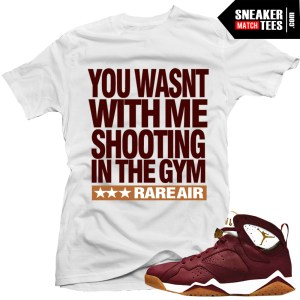 "b8204b014fb2f4 Cigar 7s matching shirt. Sale! Cigar 7s · Jordan 7 Cigar shirts to match "" Shooting"" White Sneaker Tees shirt"