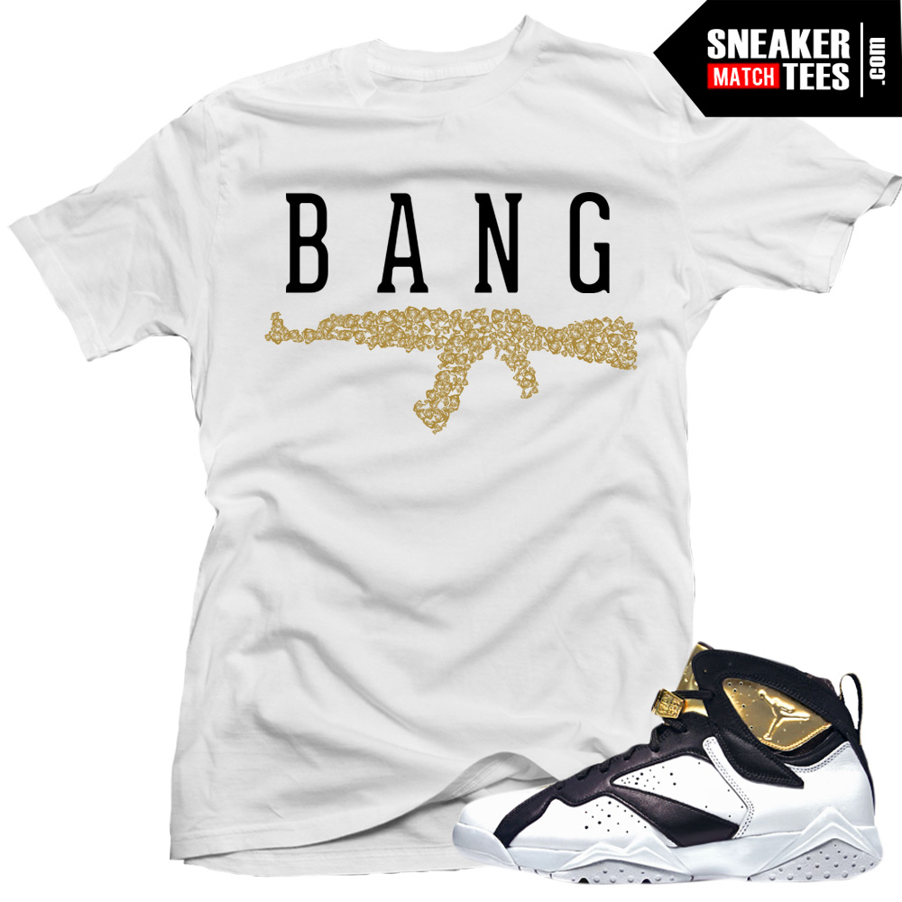 68b09f11529dec Jordan 7 Champagne shirts to match
