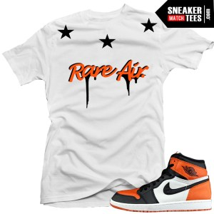 Shattered backboard 1s matching sneaker tees shirts