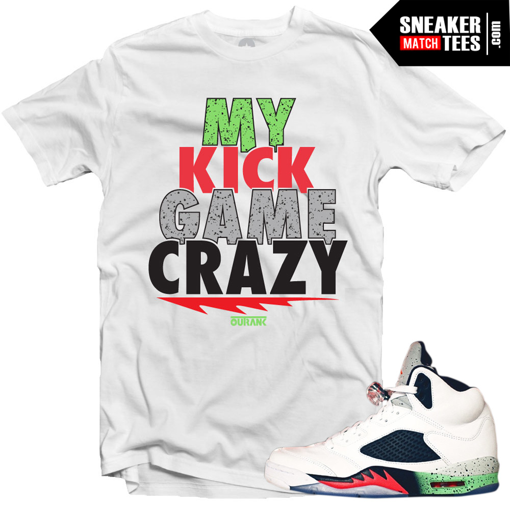 Space Jam 5 shirts match Jordan 5 shoes