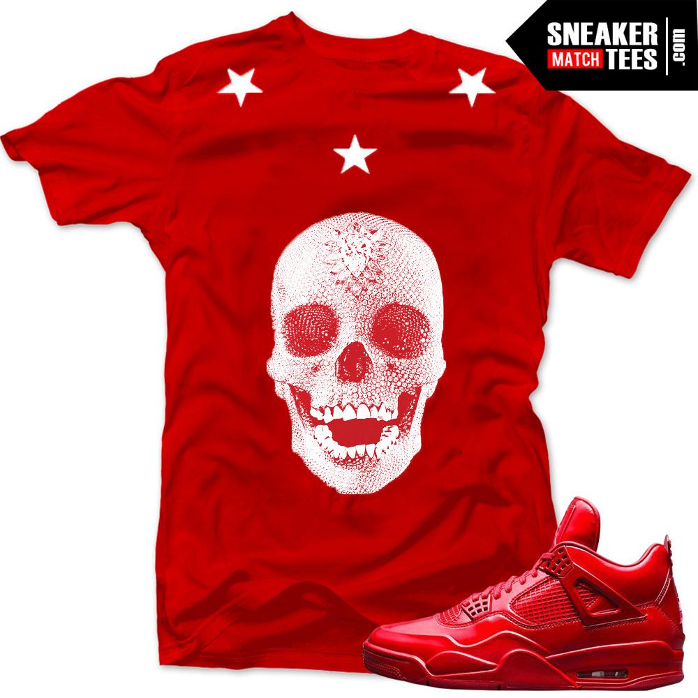 low priced e08cd 831a0 Jordan 11lab4 Red shirts to match