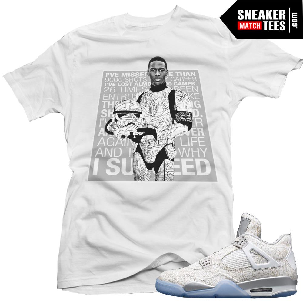 ee76cb52fc8147 Jordan Retro 4 Laser matching shirt