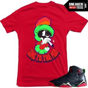 Jordan 7 Marvin the Martian t shirt to match sneaker news jordans