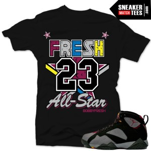 Jordan 7 bordeaux t shirt