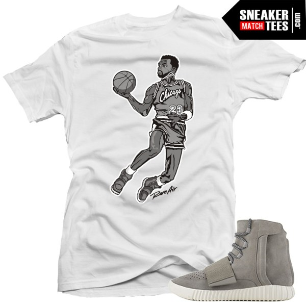 Yeezy Boost Shirts To Match Air Yeezy White Sneaker Tees