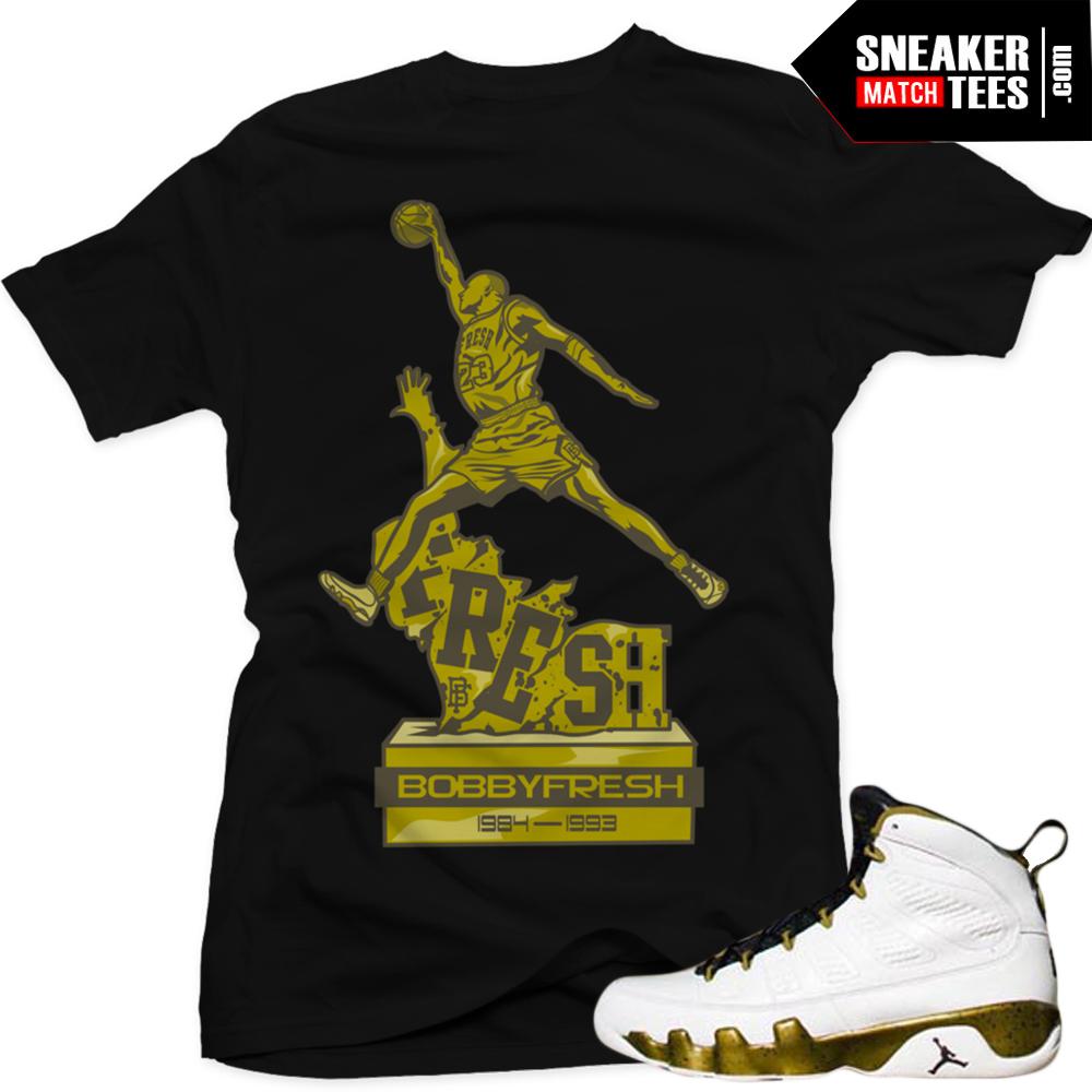 a82941bf5afe43 Air Jordan 9 statue matching sneaker tees shirts sneaker news