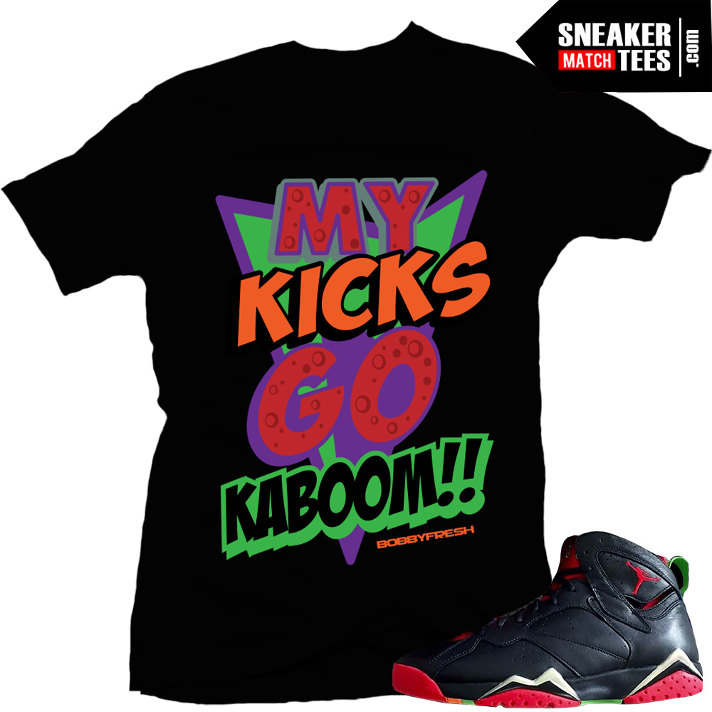 Marvin the Martian 7s matching sneaker tees shirts \