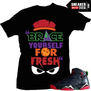 Sneaker tees match Jordan Retro 7 marvin the martian sneaker news