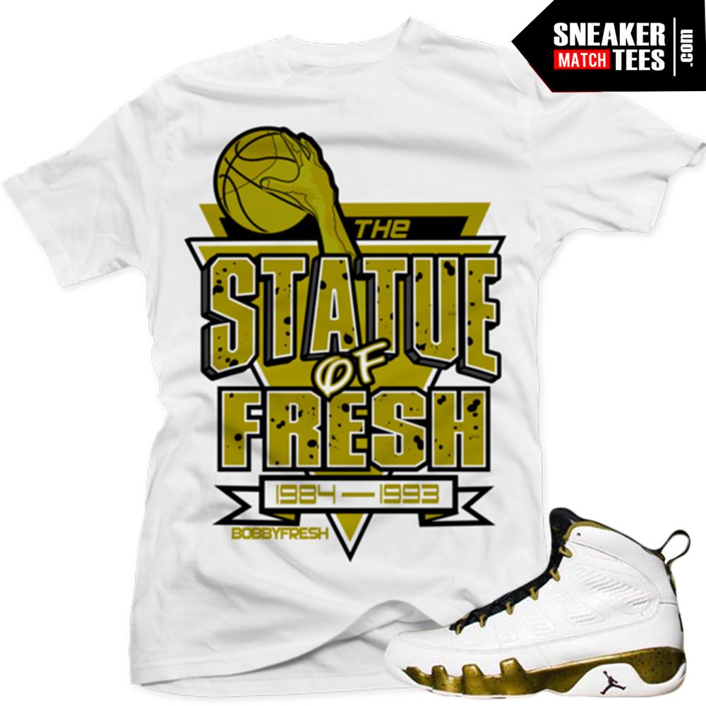 "69c55f7e0b8d5a Jordan 9 Statue shirts to match ""Statue"" White Sneaker Tees shirt"