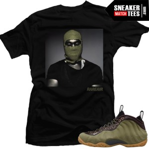 Nike-Foamposite-Olive-sneaker-tees-match-sneakers