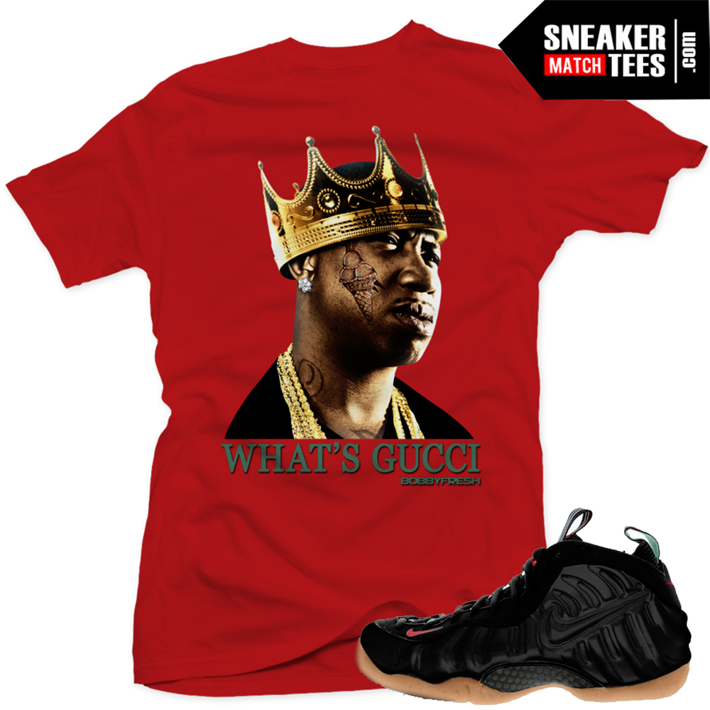 9550309e447 gucci foams matching gucci mane t shirt