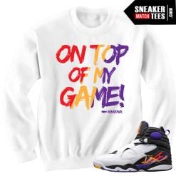 3 Peat Jordan 8s match Sneaker Tees Shirts