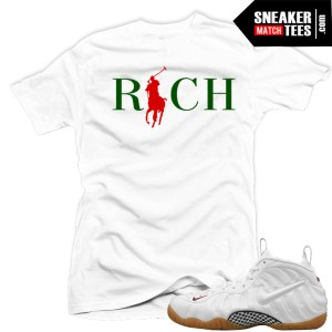 Gucci Foamposite White Matching t shirt clothing