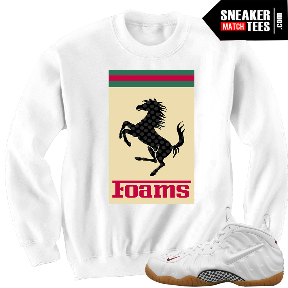 Gucci Foams White matching Sneaker tees