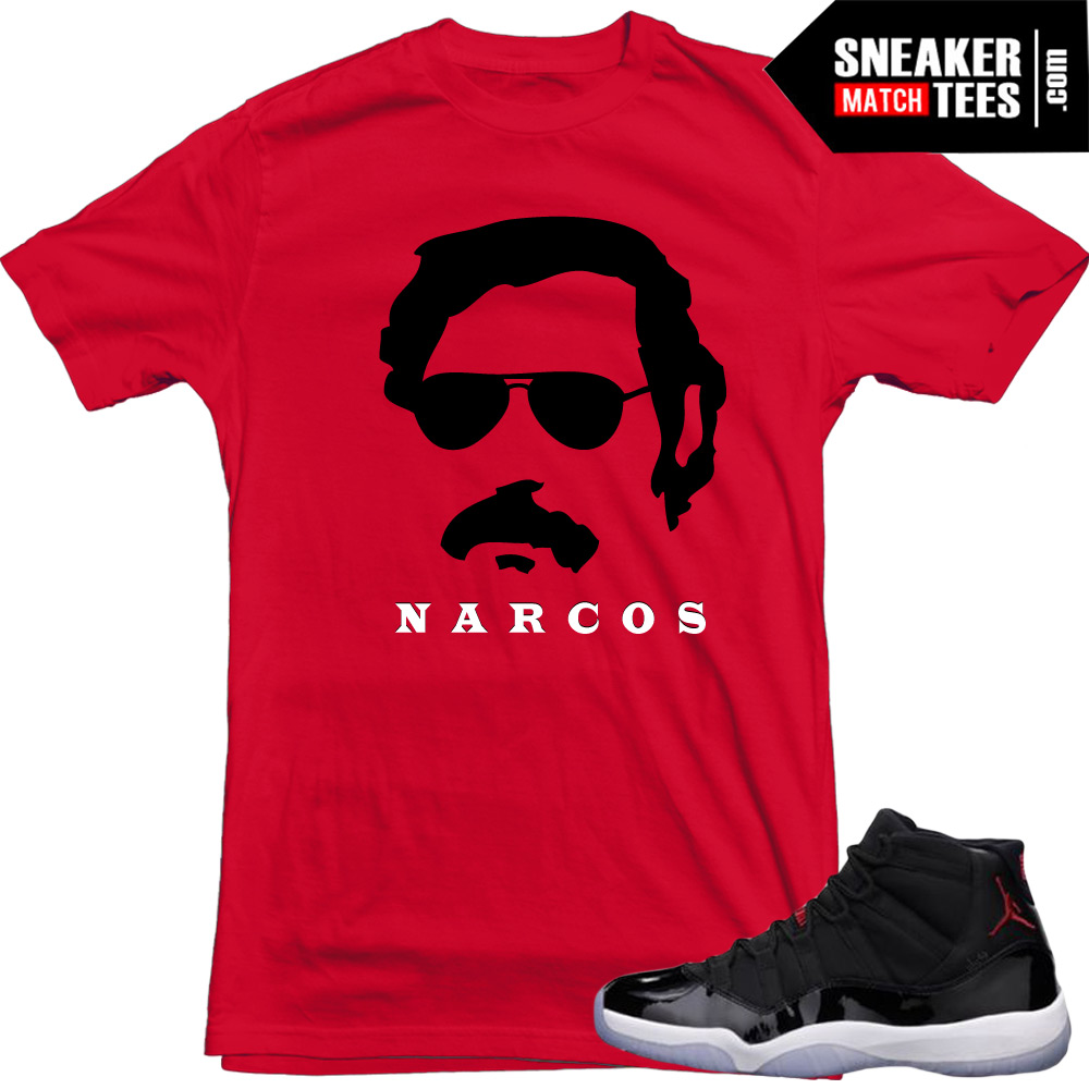 """new style 8e2fa 1802d Jordan 11 72-10 shirts to match """"Narcos""""   Red Tee"""