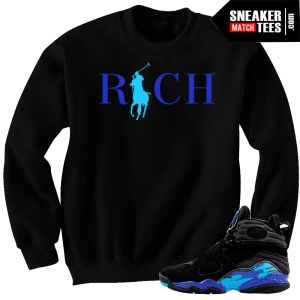 Crewneck Sweater Match Aqua 8 Jordan Retros