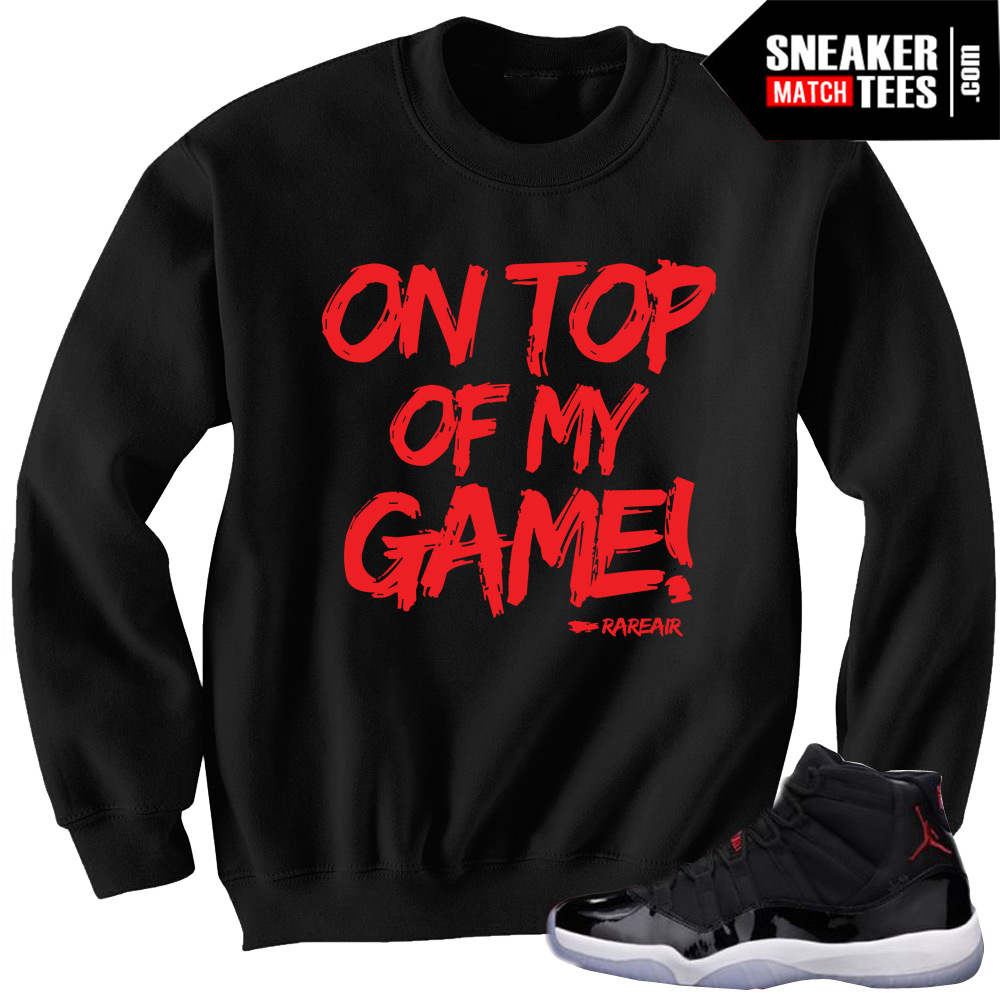 brand new bf565 add45 Jordan 11 Retro 72-10 matching sneaker tee shirts   Sneaker Match Tees