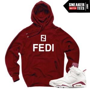 Hoodie-to-match-Jordan-Sneakers-Maroon-6s
