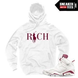 Hoodie-to-match-Maroon-6s-Jordan-Sneakers