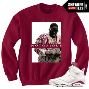 Maroon-6s-Jordan-Retros-sneakers-match-streetwear-sneaker-tees-clothing