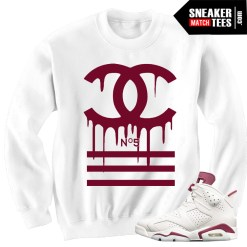 Sweater-to-match-Maroon-6-Jordan-Sneakers