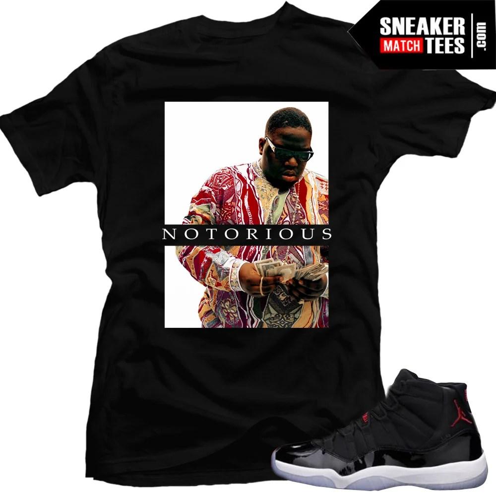 """low priced 1cbab c70c0 Jordan 11 72-10 shirts to match """"Notorious""""  Black Tee"""