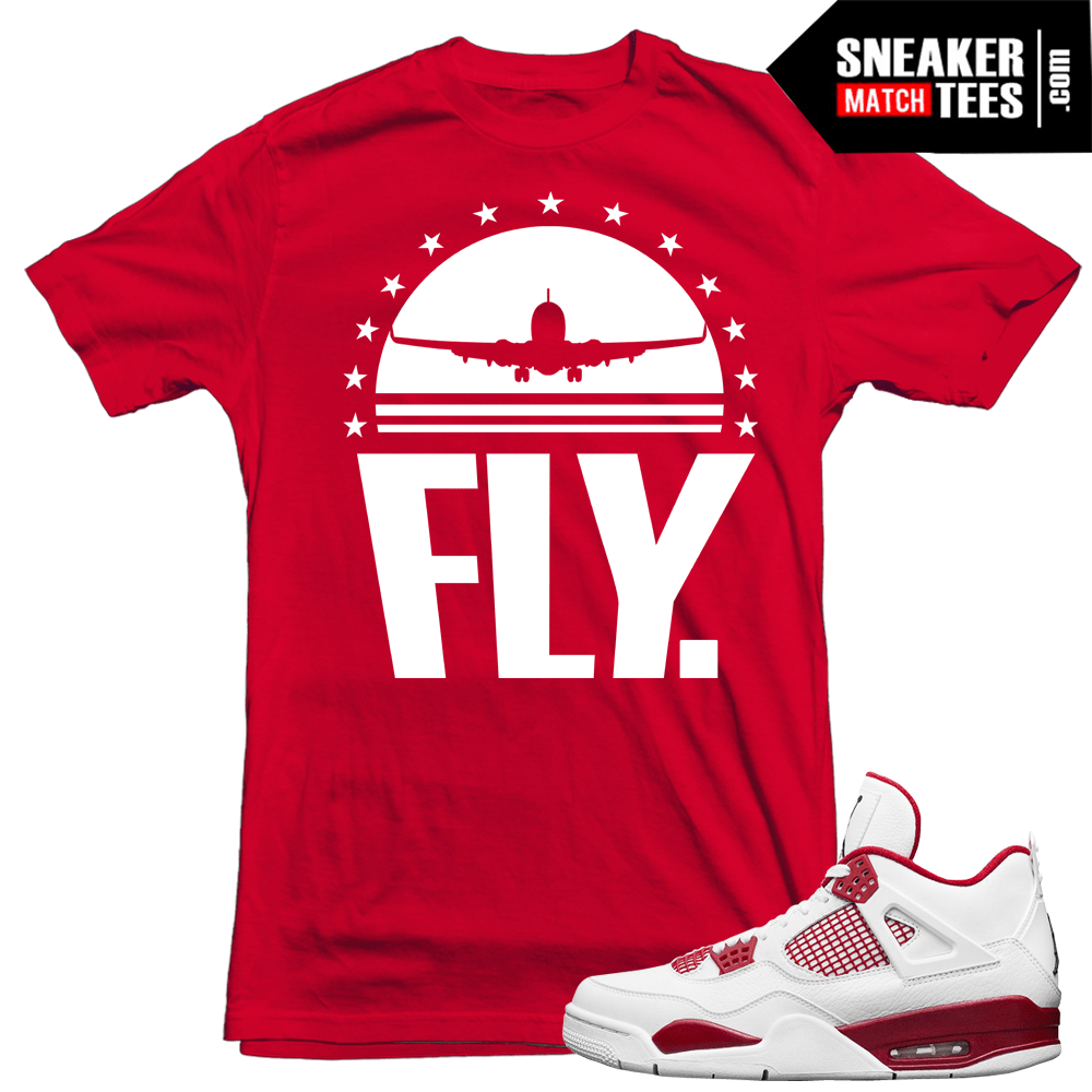 "0c5c85034685 Air Jordan 4 Alternate 89 Sneakers match ""FLY Rare Air"" t shirt"