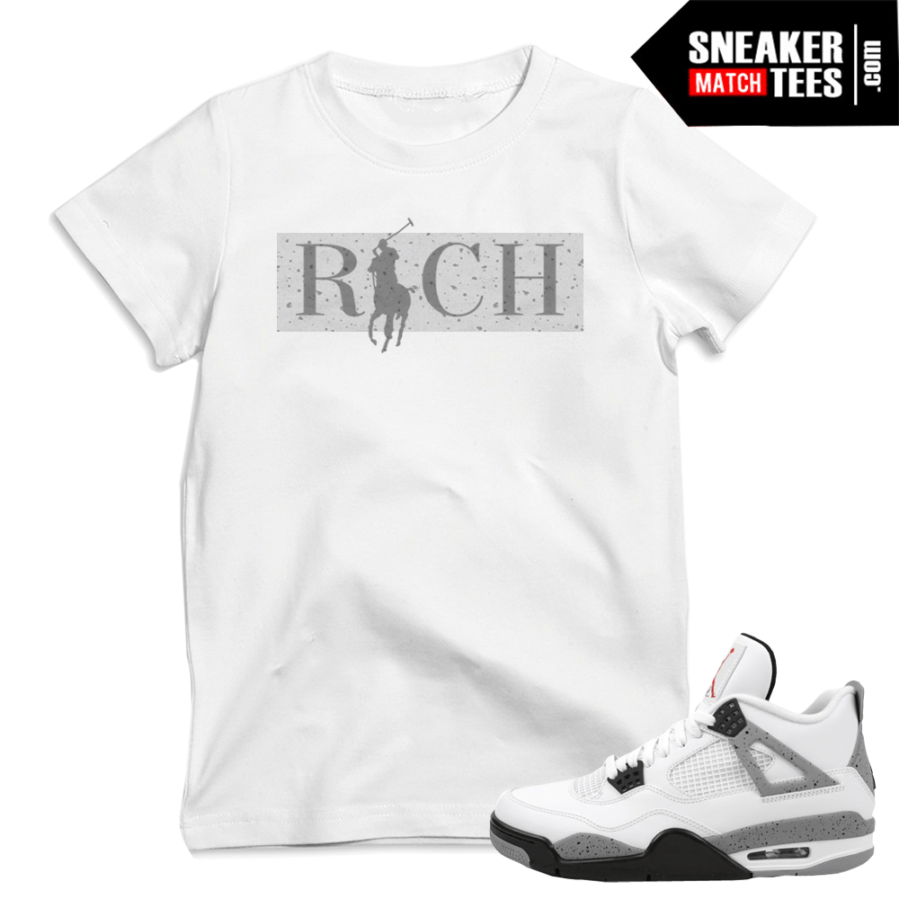 Cement Print 4s matching t shirts