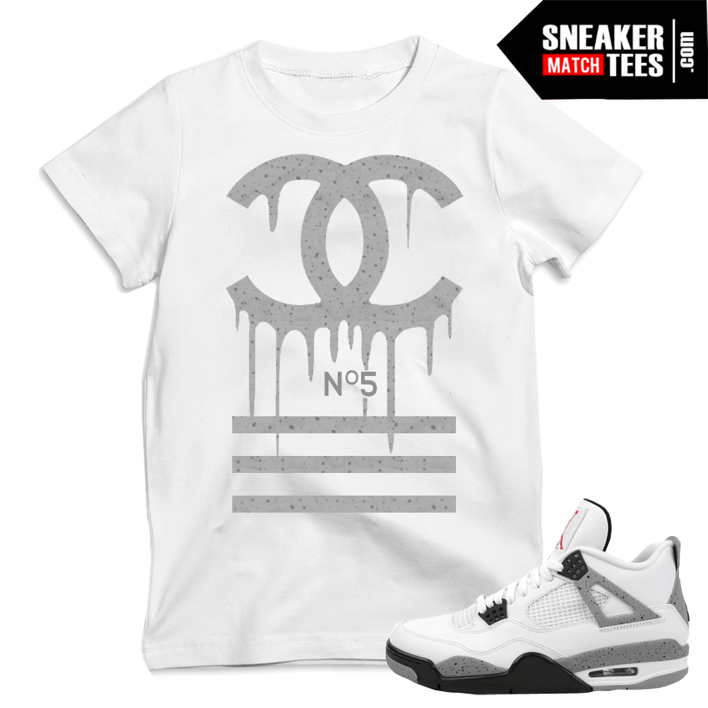 Jordan 4 Cement matching t shirts