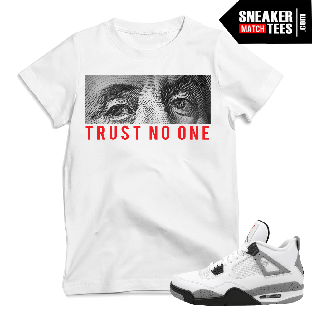 Sneaker Tees match Cement 4 Jordans
