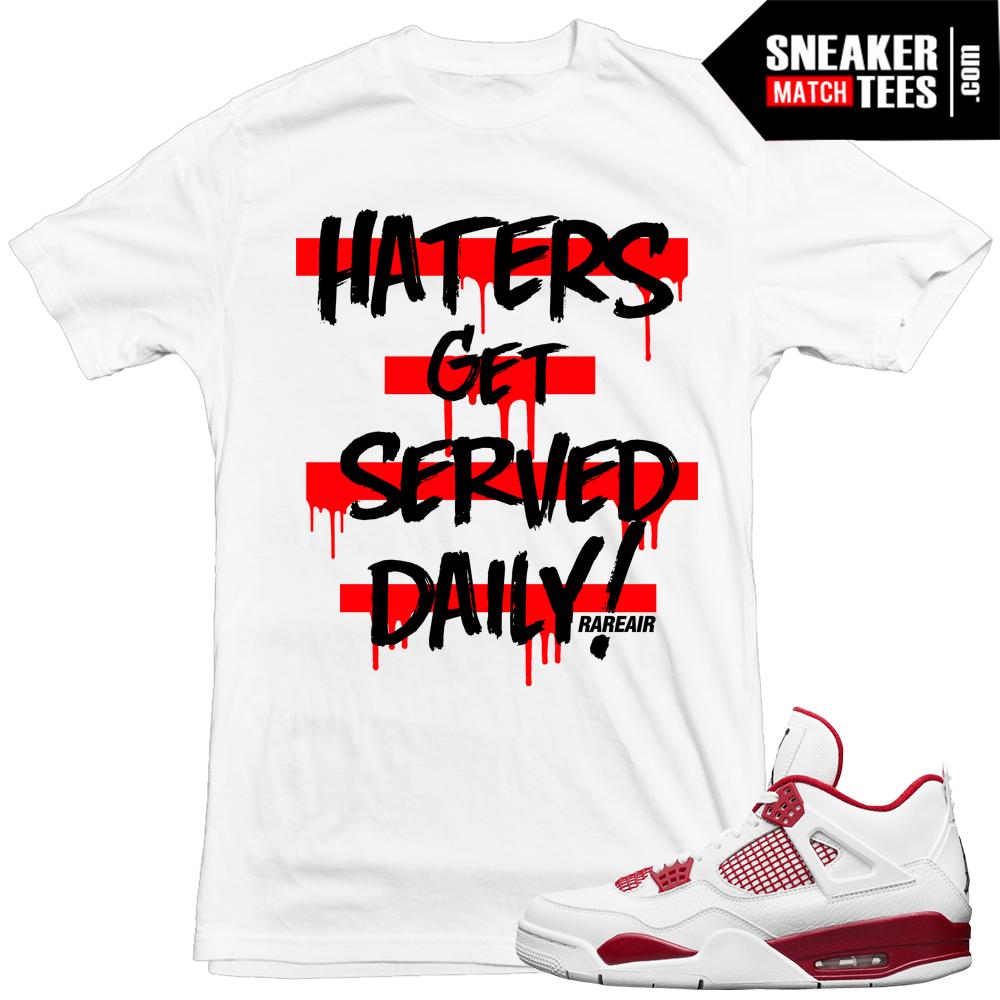 "b3743917e65 Air Jordan 4 Alternate 89 Sneakers match ""Haters Served"" t shirt"