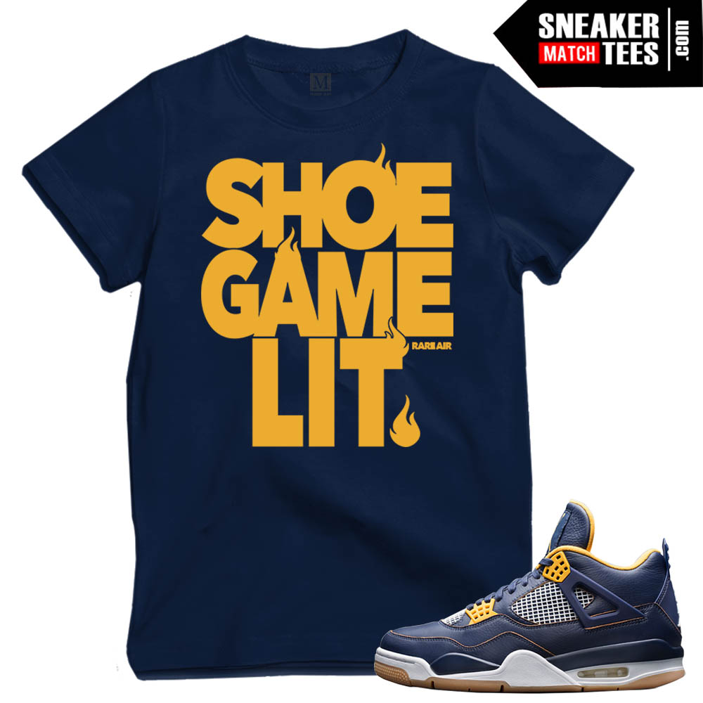 Dunk From above 4s matching sneaker tee shirts