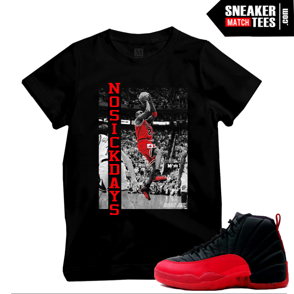 Flu Game 12 matching shirts for Jordans