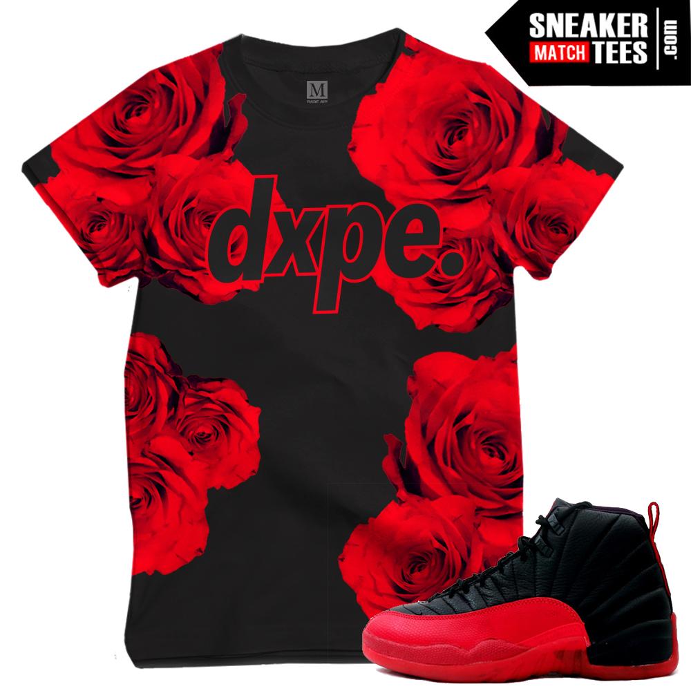 aec7dcd26d65 Flu Game 12 t shirts matching sneakers