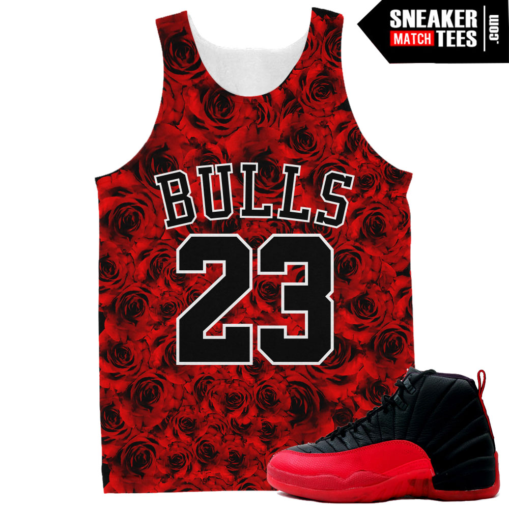 16082bd4f3a Flu Game 12 Air Jordan matching t shirts   Sneaker Match Tees