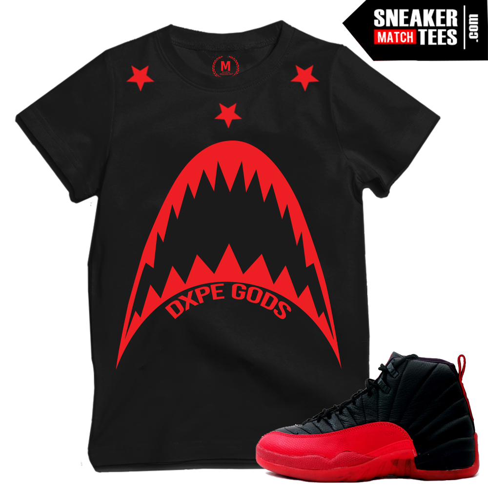 Flu Game 12s matching t shirts sneaker tees