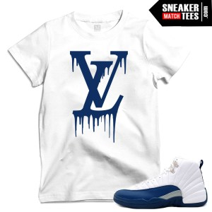 French Blue 12 matching t shirts sneaker tees