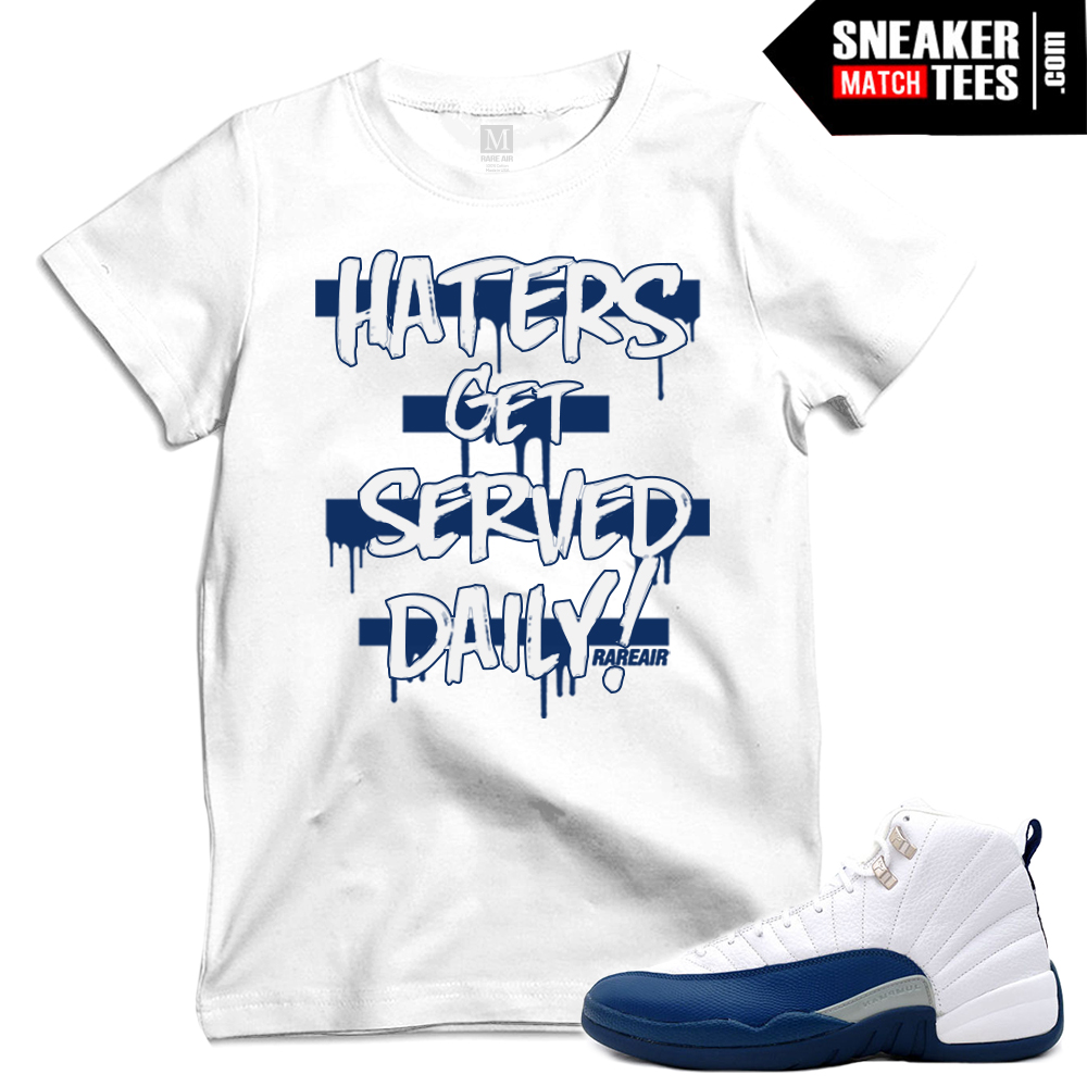 French Blue 12s Release date t shirts to match