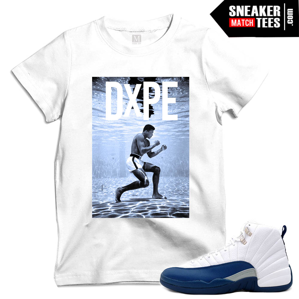 T shirts to match French Blue 12 sneakers