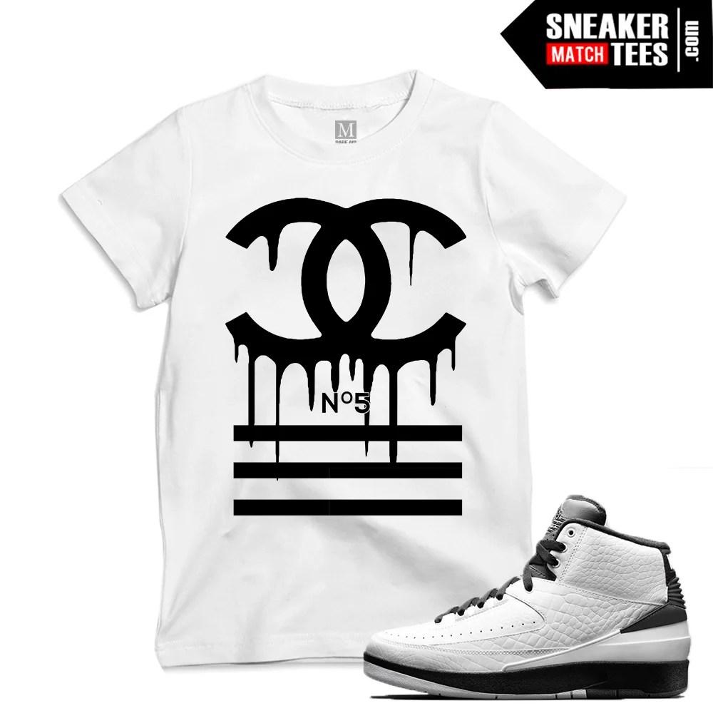"7016ab686da Match Air Jordan 2 Wing it| ""Designer Drip"" | White T shirt"