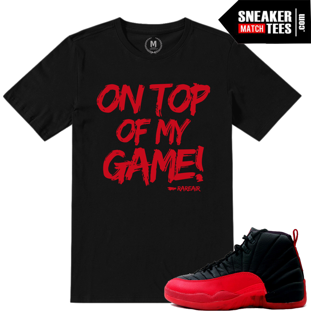 Flu Game Shirt match Jordan 12s
