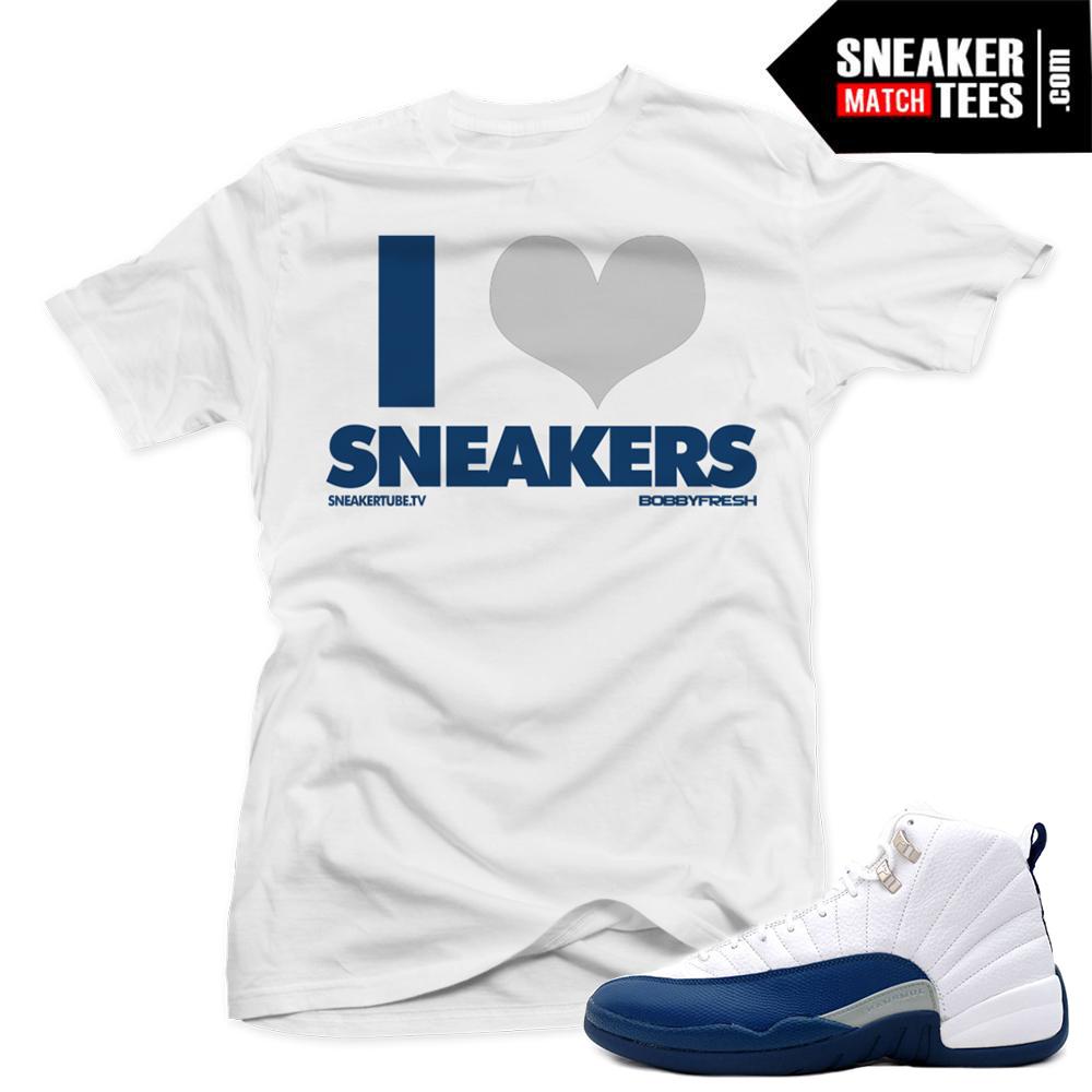 857812400941 Jordan 12 French Blue match sneaker tees